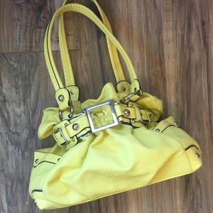 Wilsons Leather Lemon Yellow Hobo Bag